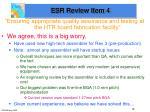 esr review item 4