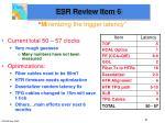 esr review item 6
