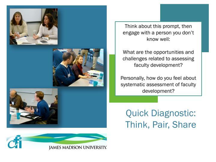 Quick diagnostic think pair share