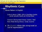 rhythmic cues