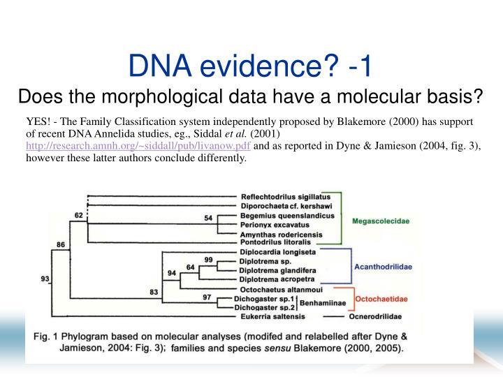 DNA evidence? -1