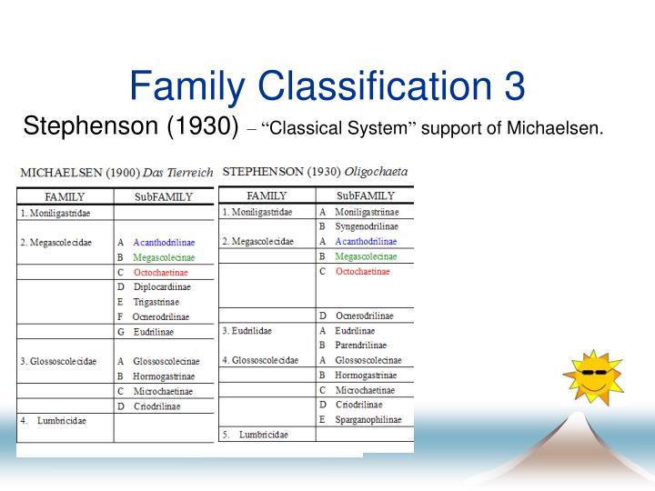 Family Classification 3