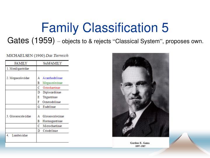 Family Classification 5