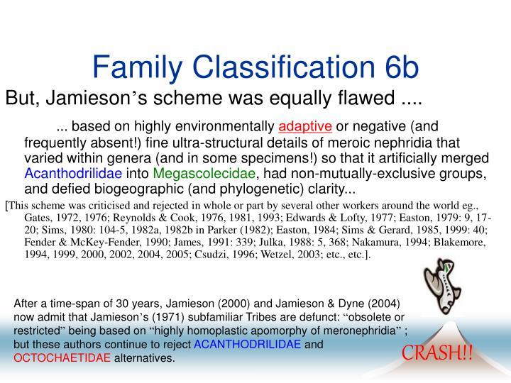 Family Classification 6b