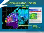 communicating threats severe weather
