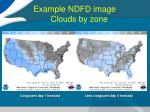 example ndfd image clouds by zone