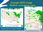 example ndfd image weather coverage by zone