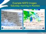 example ndfd images saturday morning in rockies1