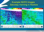 example ndfd images saturday morning in rockies2