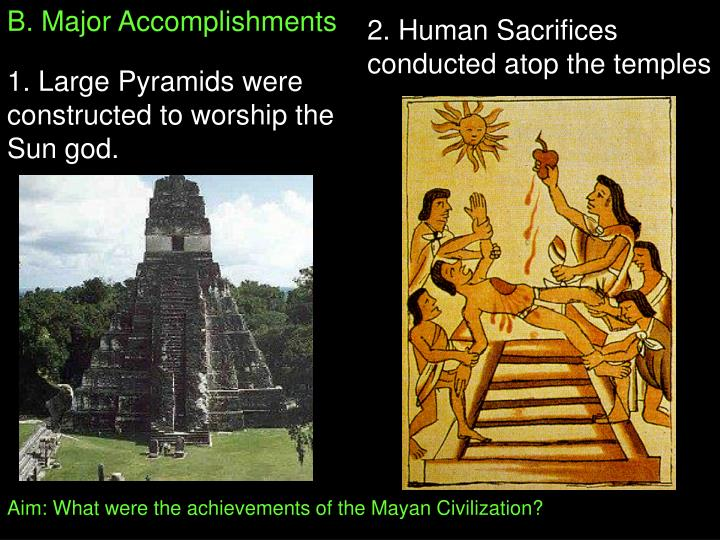 B. Major Accomplishments