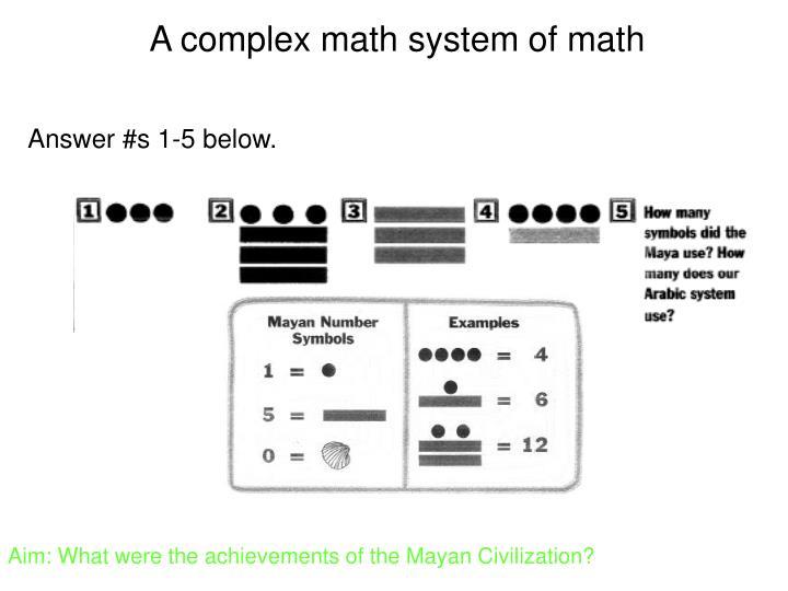 A complex math system of math