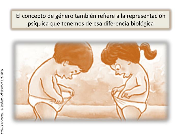 El concepto de género también refiere a la representación psíquica que tenemos de esa diferencia biológica