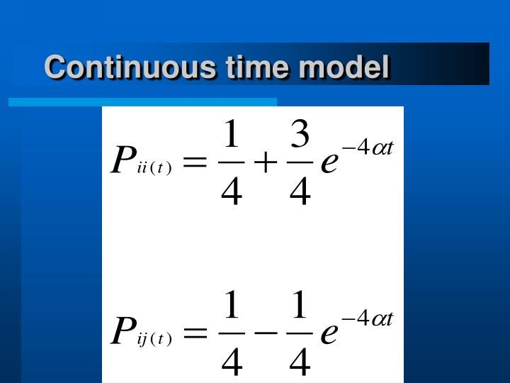 Continuous time model