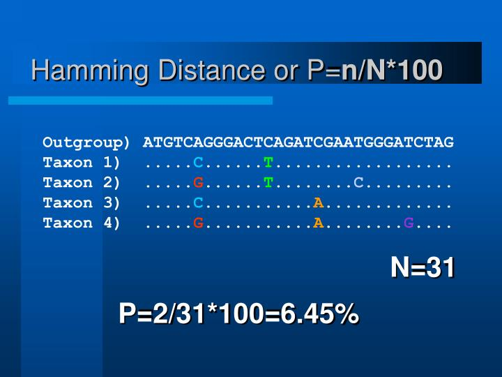 Hamming Distance or P=