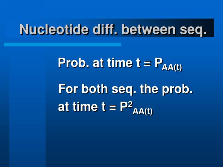 Nucleotide diff. between seq.