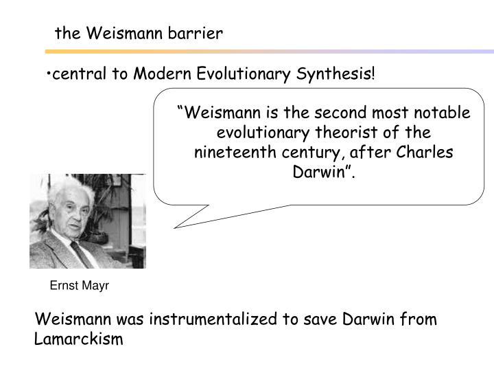the Weismann barrier