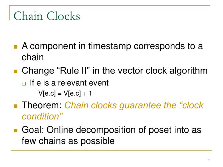 Chain Clocks
