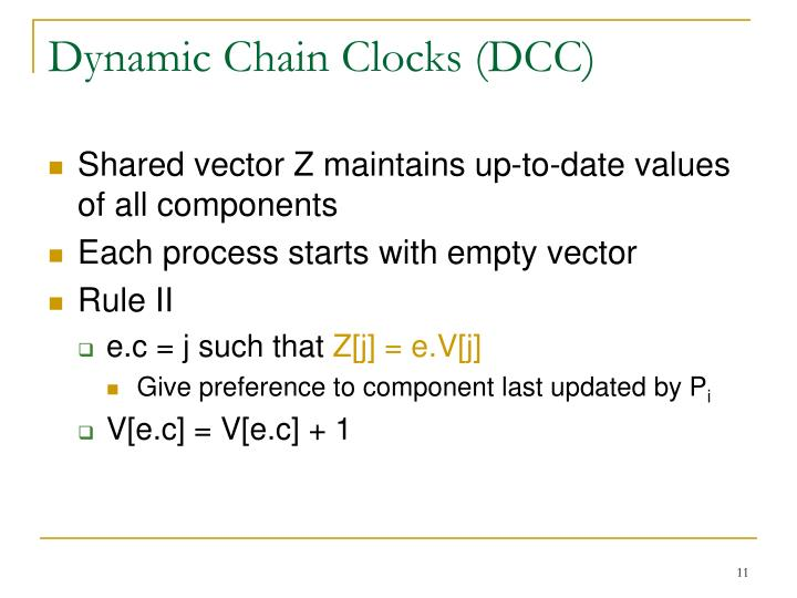 Dynamic Chain Clocks (DCC)