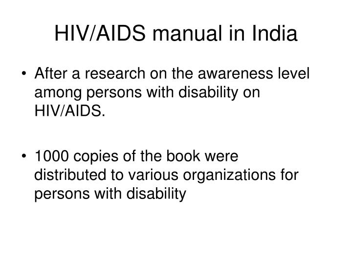 HIV/AIDS manual in India