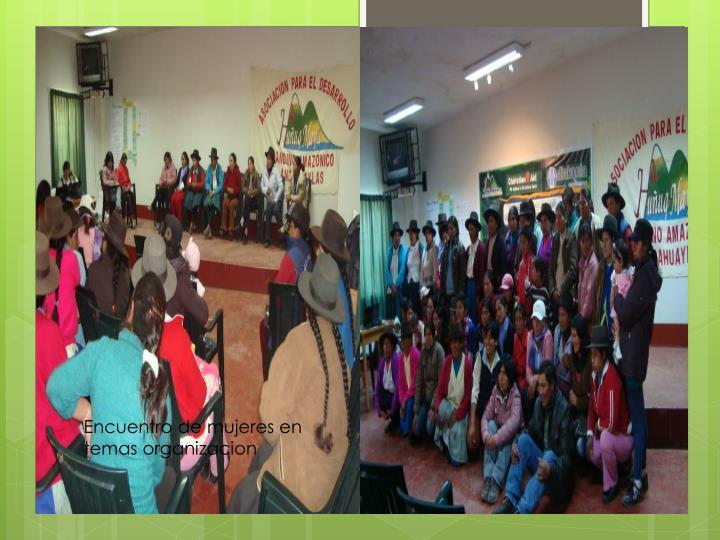 Encuentro de mujeres en temas organizacion
