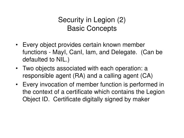 Security in Legion (2)