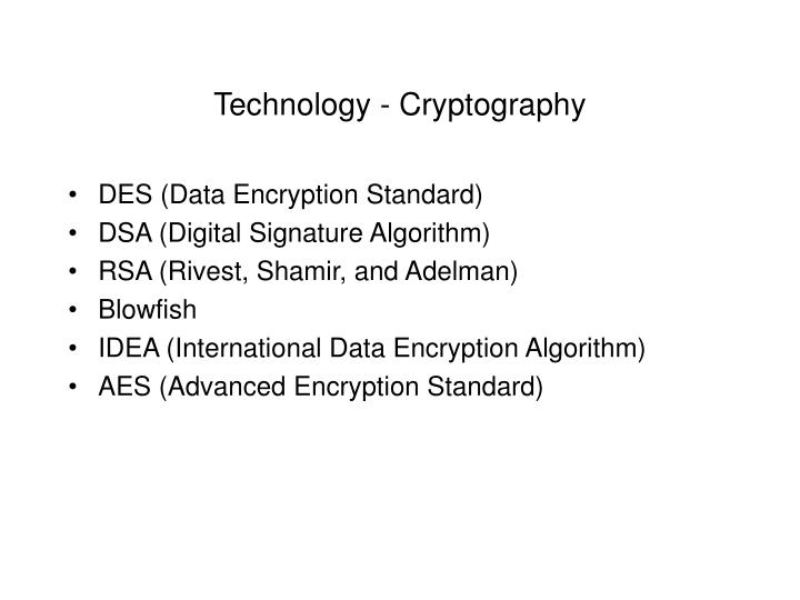 Technology - Cryptography