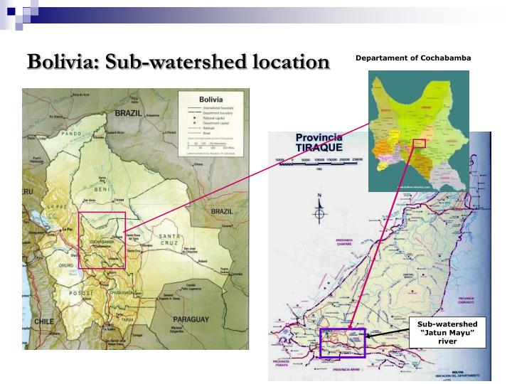 Bolivia: Sub-watershed location
