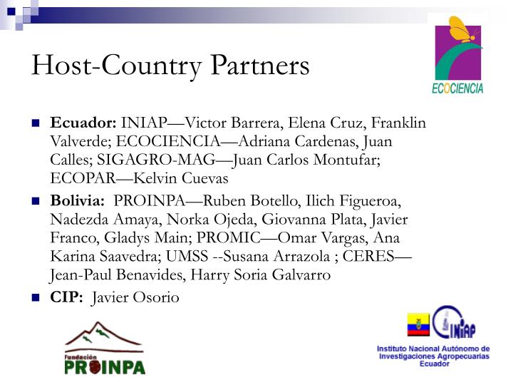 Host country partners