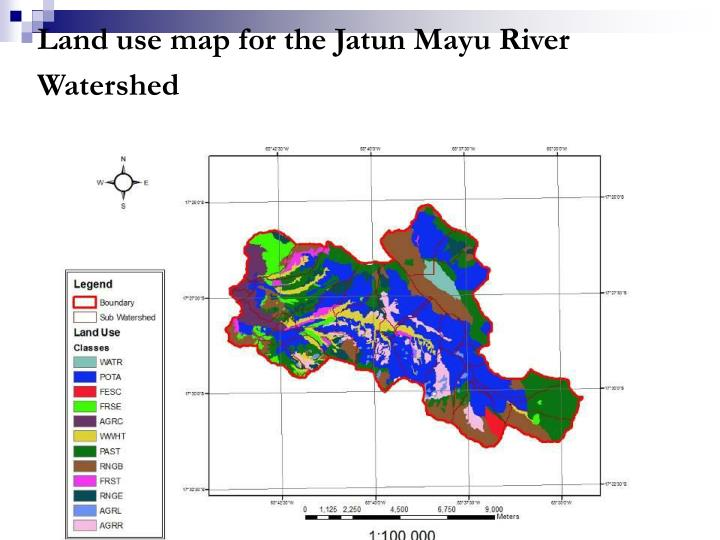 Land use map for the Jatun Mayu River Watershed