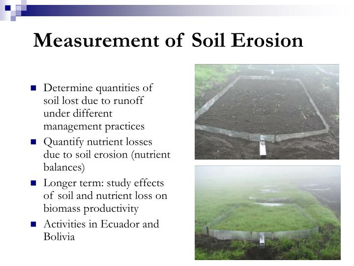 Measurement of Soil Erosion