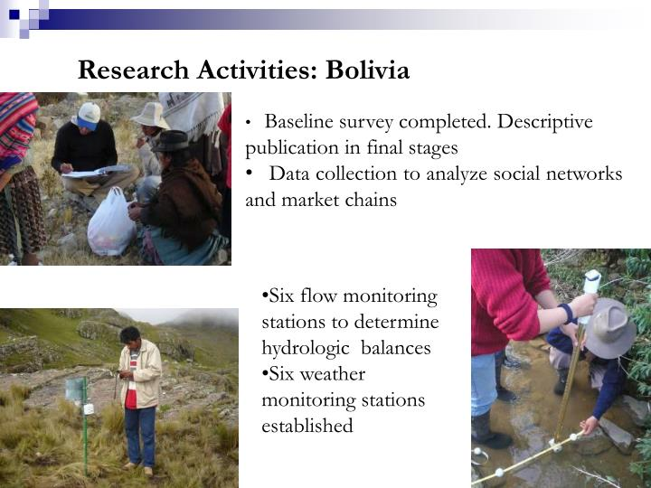 Research Activities: Bolivia