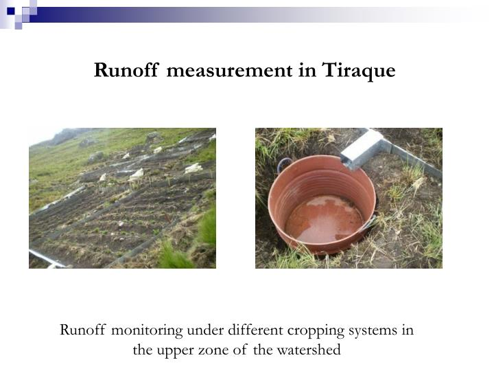 Runoff measurement in Tiraque