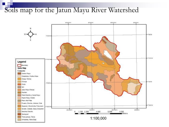 Soils map for the Jatun Mayu River Watershed