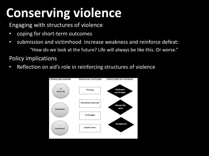 Conserving violence