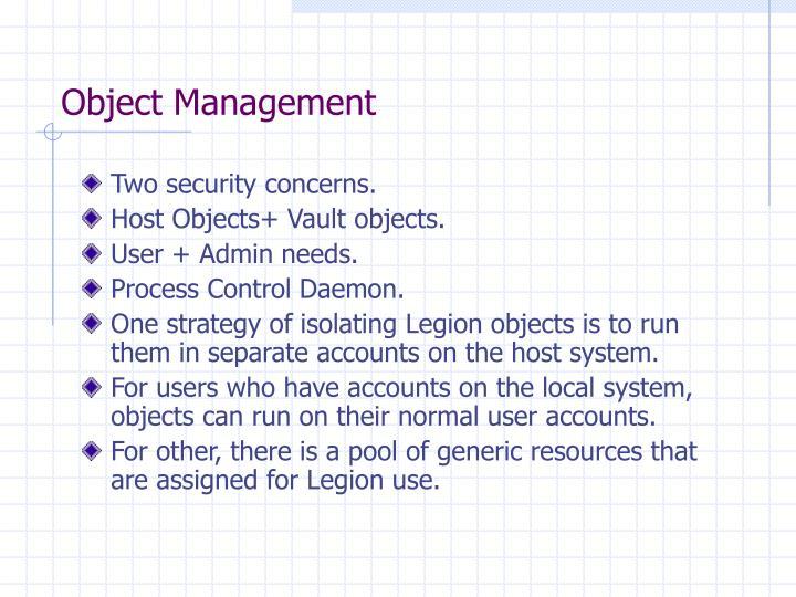 Object Management