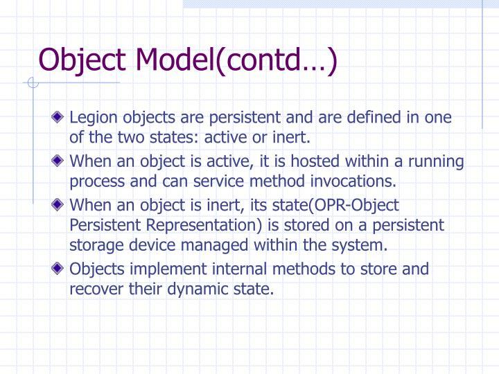 Object Model(contd…)