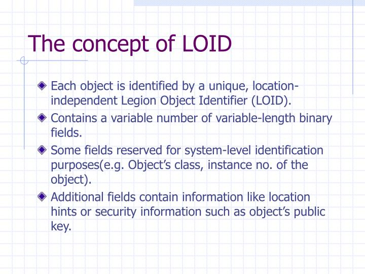 The concept of LOID