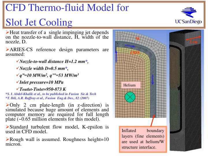 CFD Thermo-fluid Model for