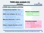 tama data analysis 1 overview