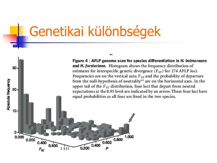 Genetikai különbségek