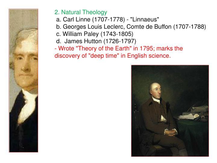 2. Natural Theology