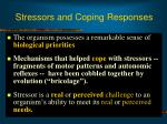 stressors and coping responses
