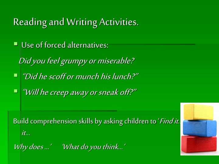 Reading and Writing Activities.