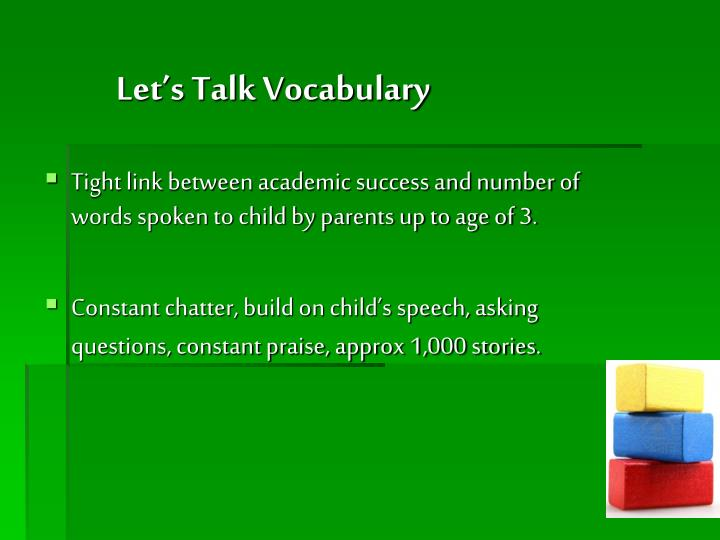 Let's Talk Vocabulary