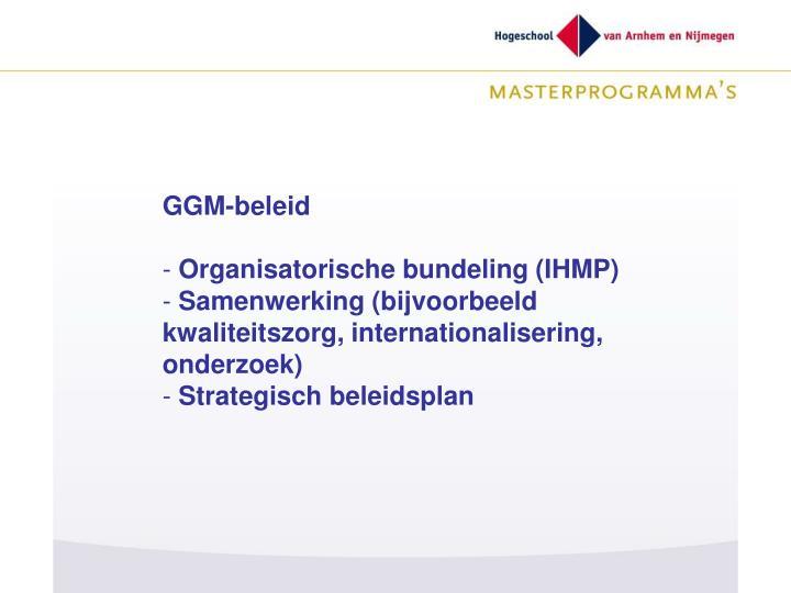 GGM-beleid
