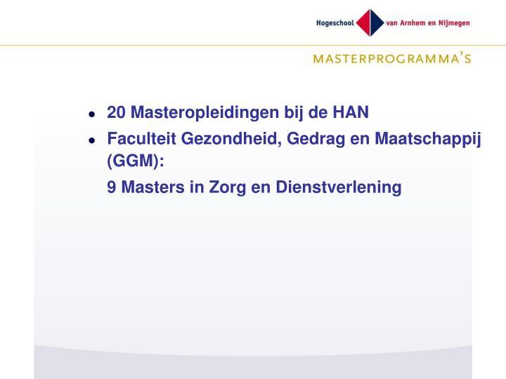 20 Masteropleidingen bij de HAN