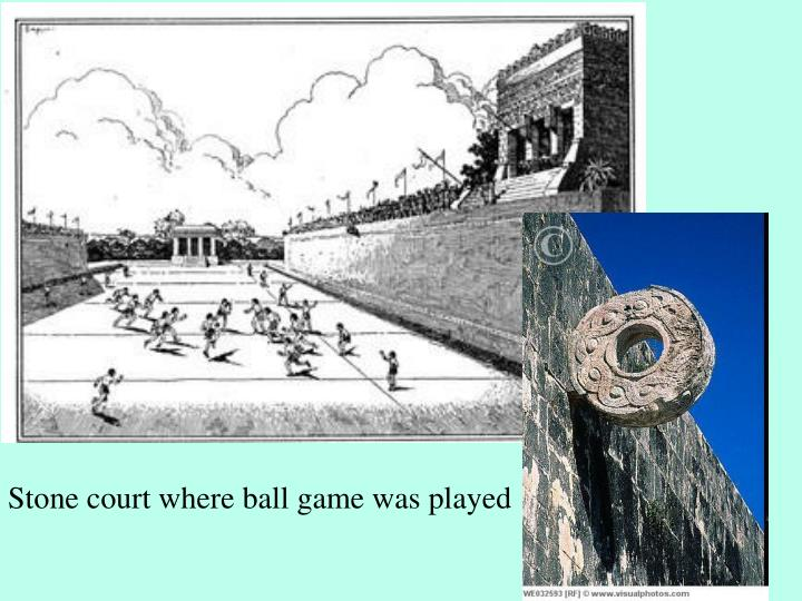 Stone court where ball game was played