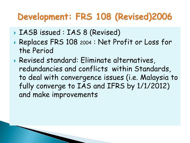 Development frs 108 revised 2006