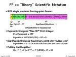 fp binary scientific notation