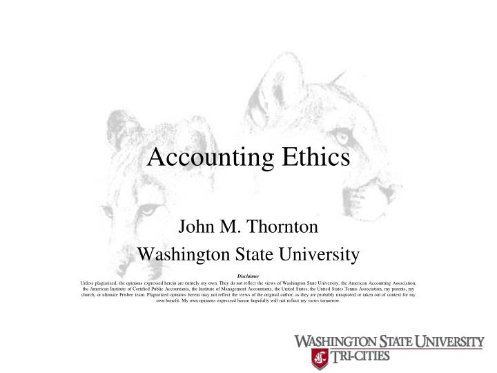 accounting ethics n.